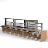 ATESY regata self service line food distriburion storage meals restaurant cafe bistro